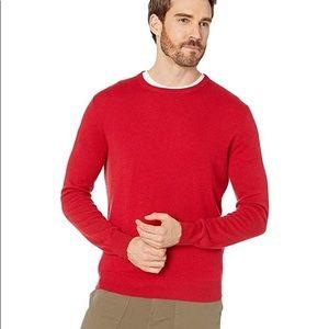 J. CREW Red 100% Cashmere Crewneck Sweater S